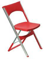 Червен сгъваем стол