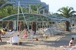 метални сенници с тента за плажове