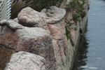 изкуствени скали от щампован бетон за басейн по поръчка